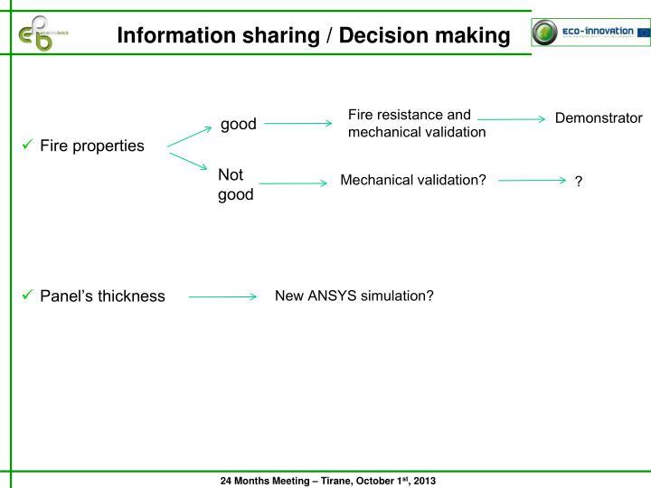 Information sharing / Decision making