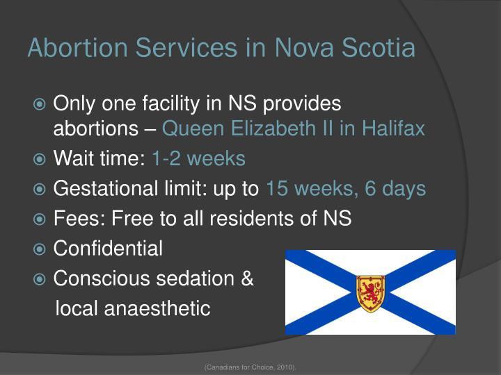 Abortion Services in Nova Scotia