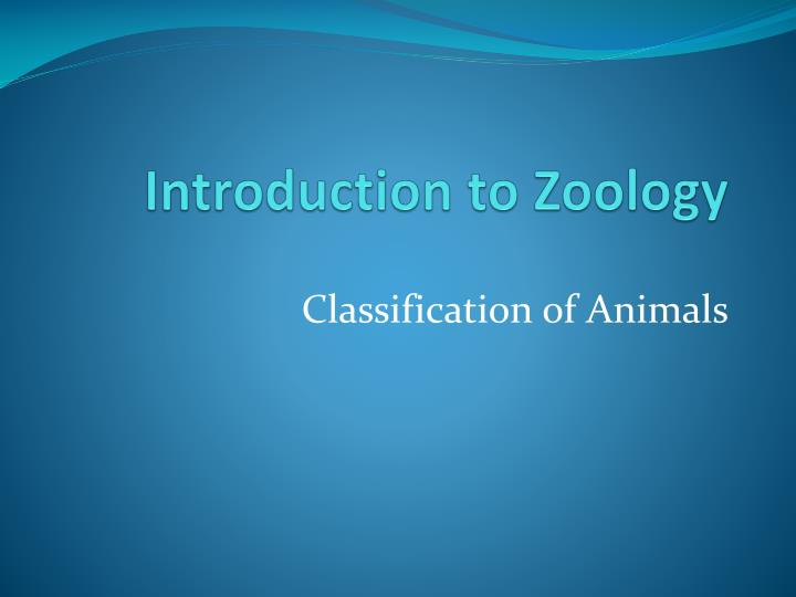 introduction to zoology n.
