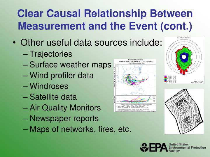 Clear Causal Relationship Between Measurement and the Event (cont.)