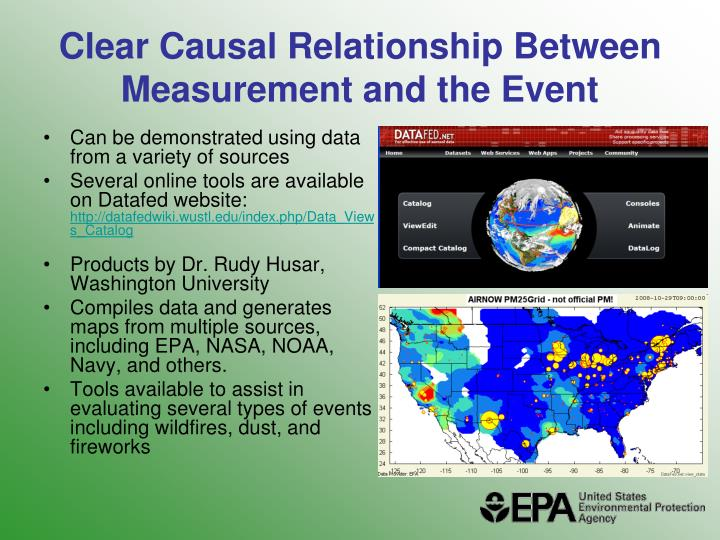 Clear Causal Relationship Between Measurement and the Event