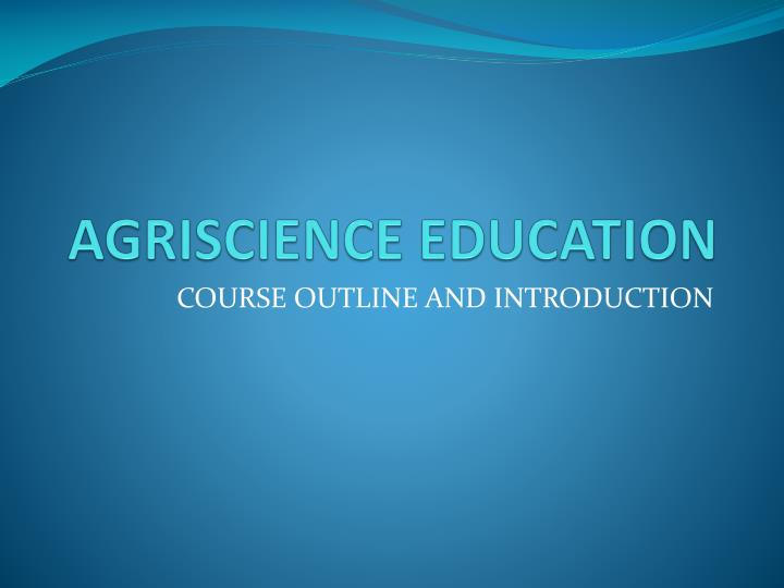 agriscience education n.