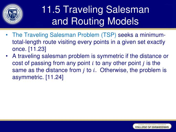 11 5 traveling salesman and routing models n.