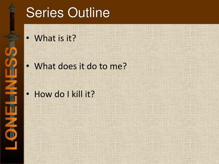 Series outline