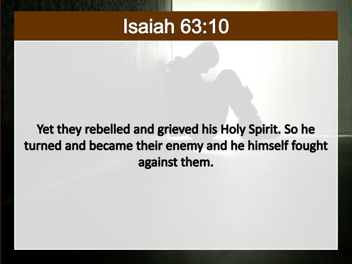 Isaiah 63:10