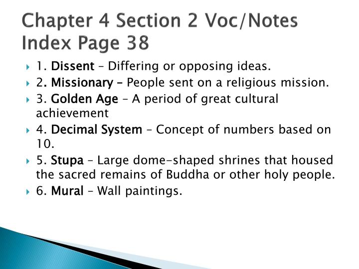 chapter 4 section 2 voc notes index page 38 n.