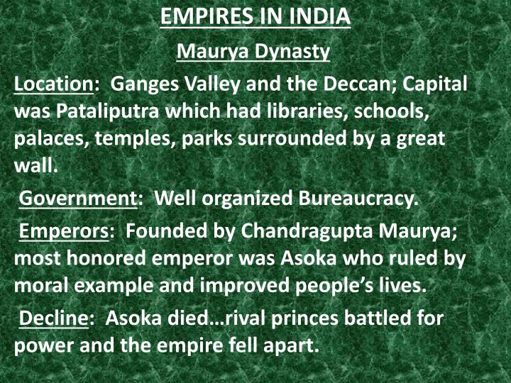 empires in india n.