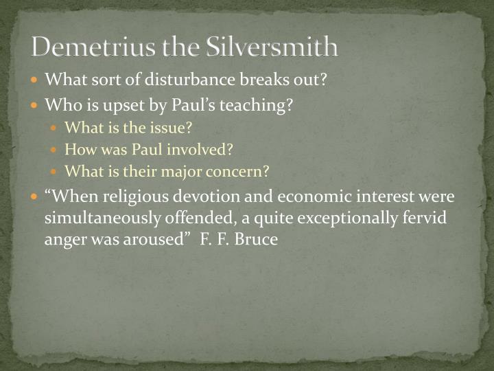 Demetrius the Silversmith