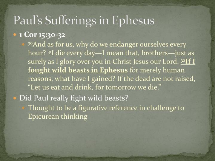 Paul's Sufferings in Ephesus