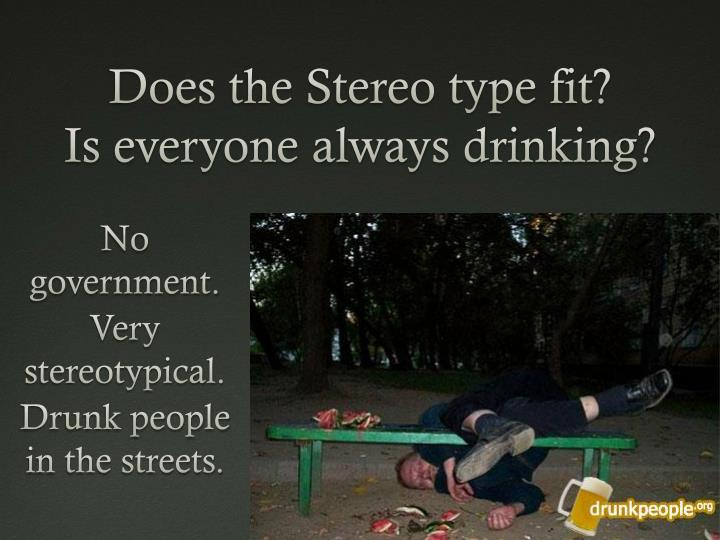 does the stereo type fit is everyone always drinking n.