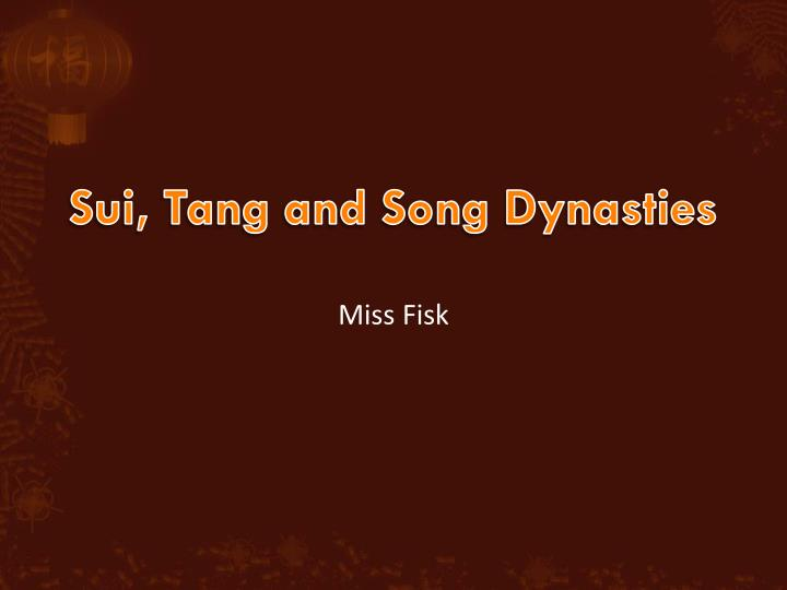 sui tang and song dynasties n.