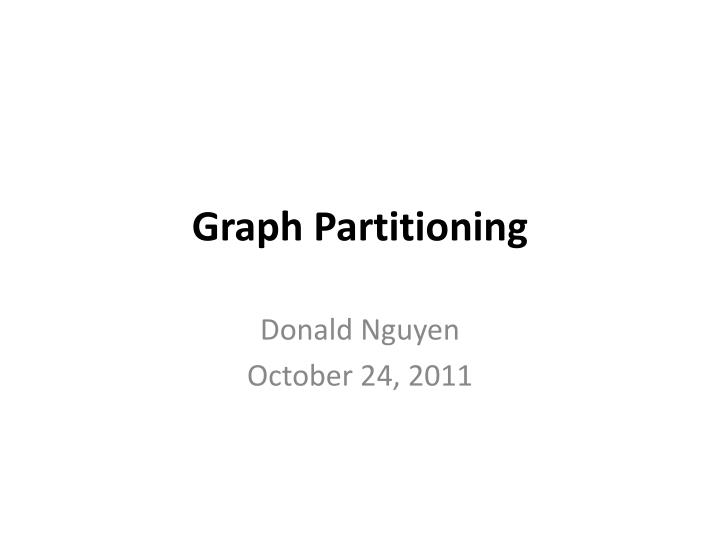 graph partitioning n.