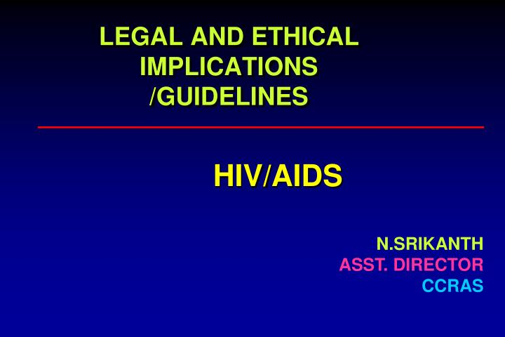 legal and ethical implications