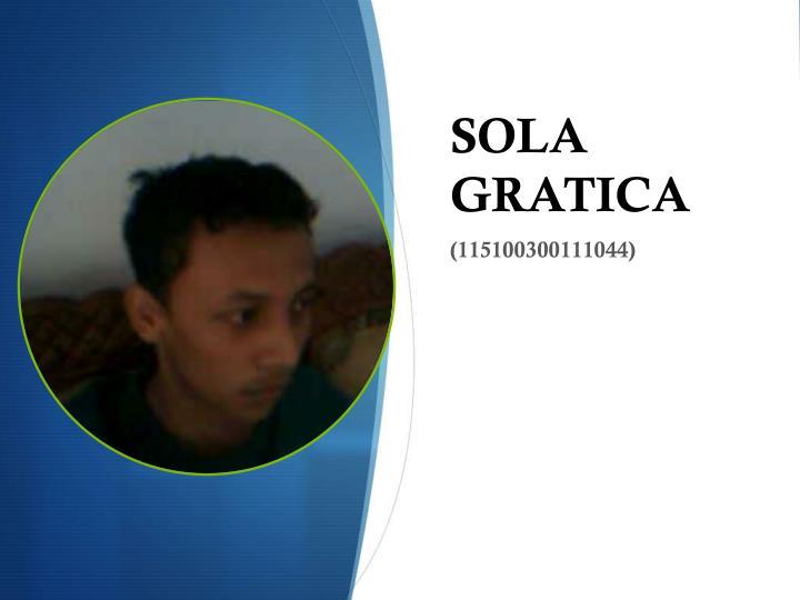 SOLA GRATICA