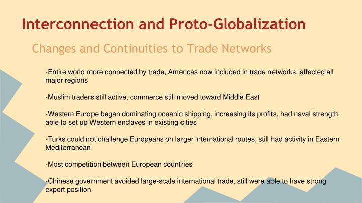 Interconnection and Proto-Globalization