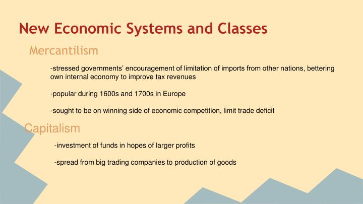 New Economic Systems and Classes