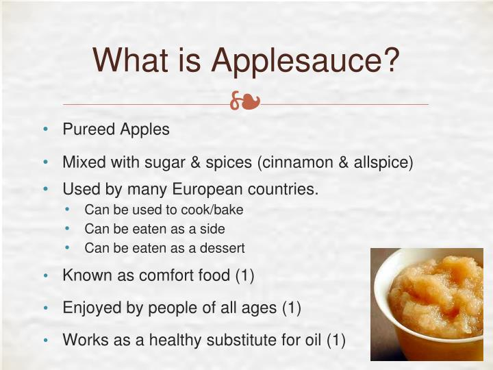 What is applesauce