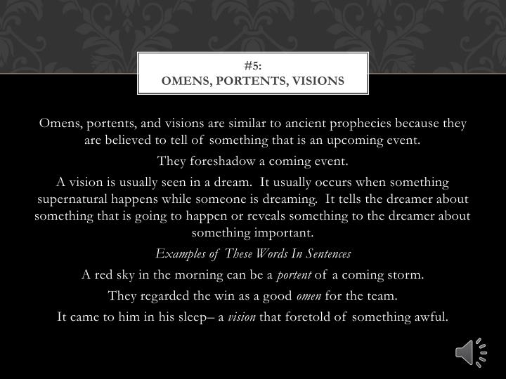 Ppt elements of gothic literature powerpoint for Portent in a sentence