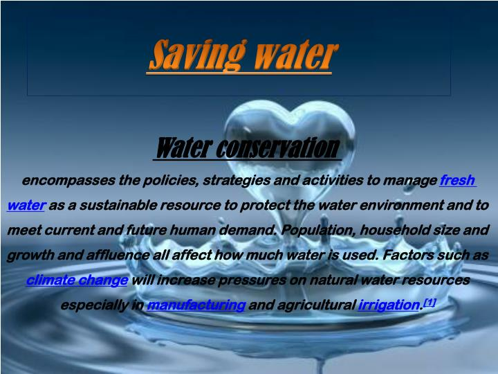 saving water n.