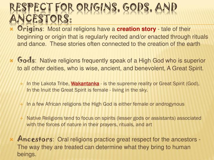 oral religions