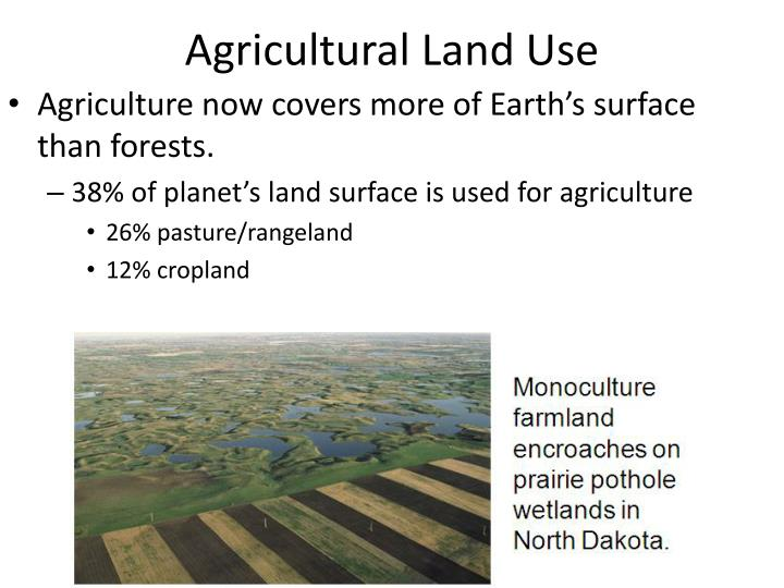 Agricultural land use