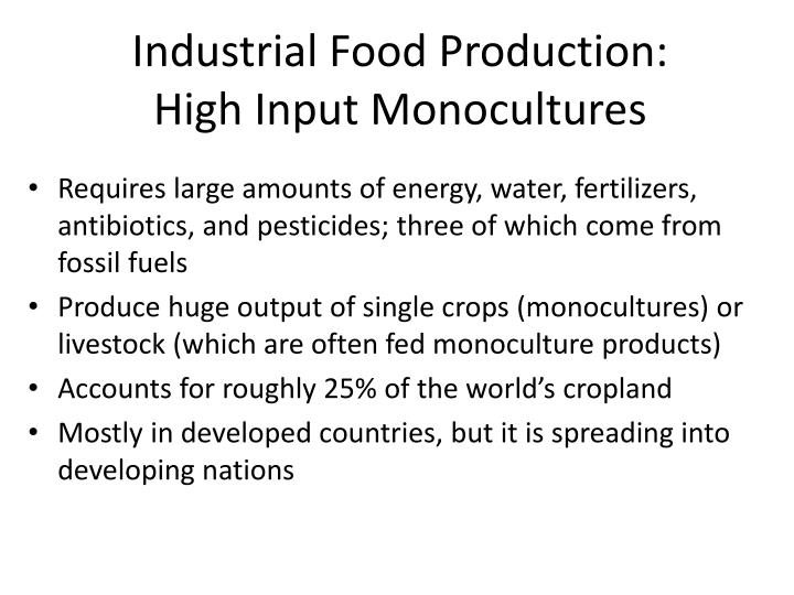 Industrial Food Production: