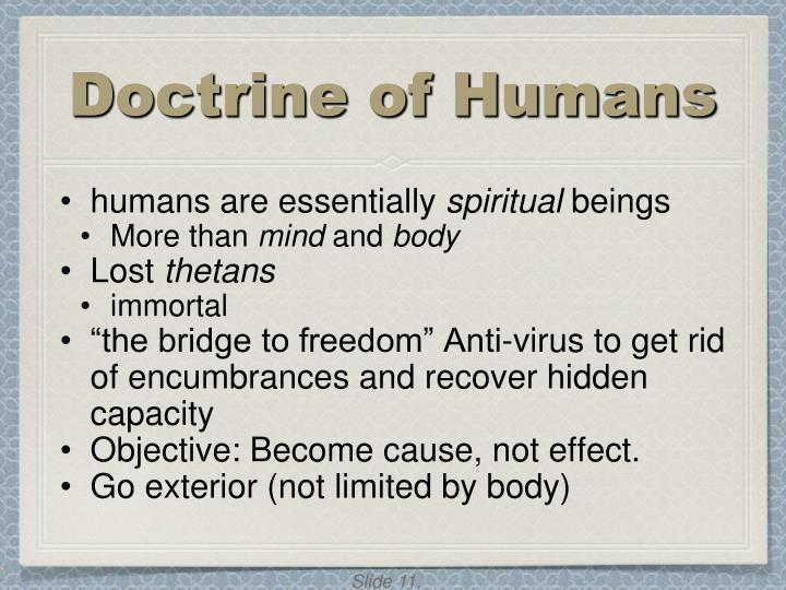Doctrine of Humans
