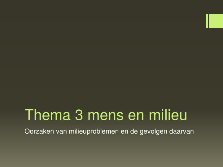 thema 3 mens en milieu n.