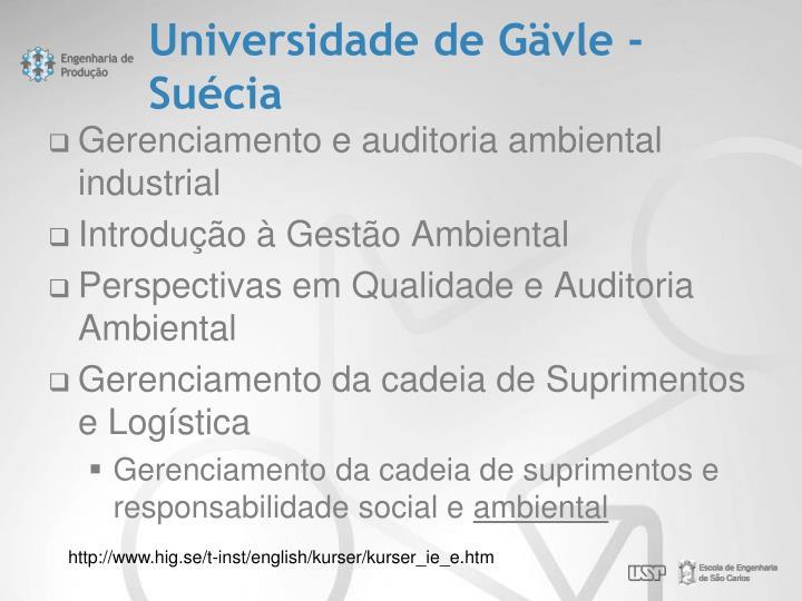Universidade de Gävle - Suécia