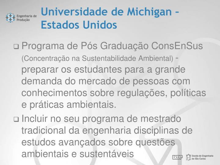 Universidade de Michigan – Estados Unidos