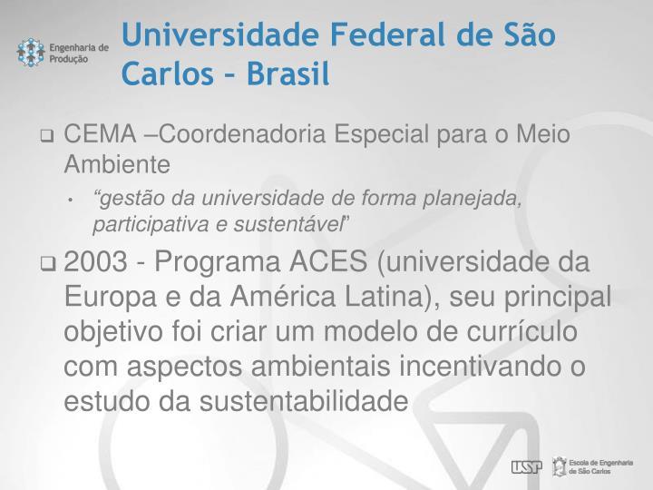 Universidade Federal de São Carlos – Brasil