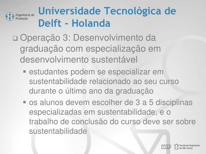 Universidade Tecnológica de Delft - Holanda