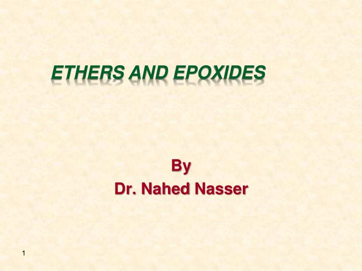 ethers and epoxides n.