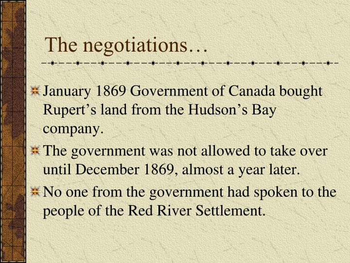 The negotiations…