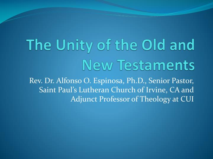 the unity of the old and new testaments n.