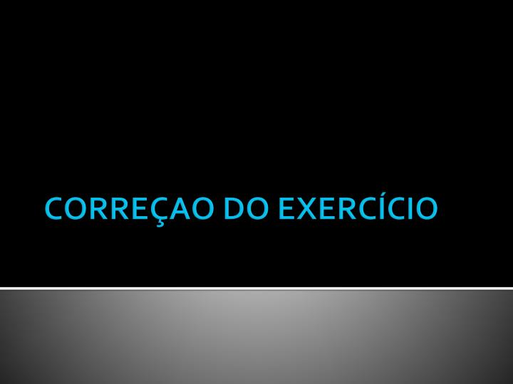 corre ao do exerc cio n.