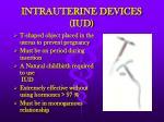 intrauterine devices iud