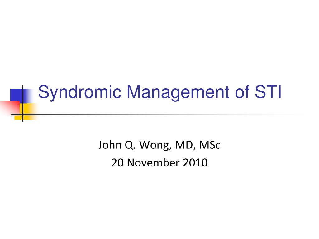 Syndromic management of sexually transmitted infections ppt template