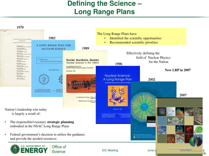 Defining the Science –