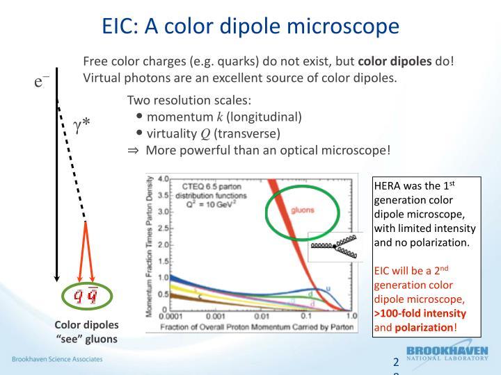 EIC: A color dipole microscope