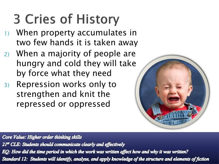 3 Cries of History