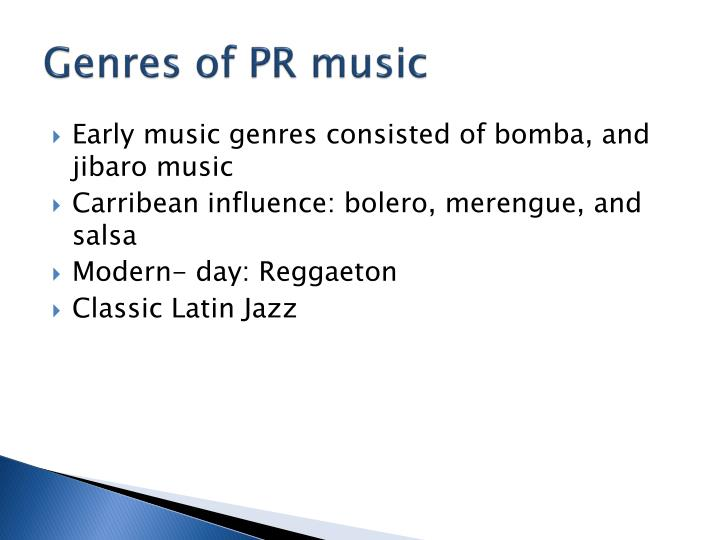 Genres of PR music