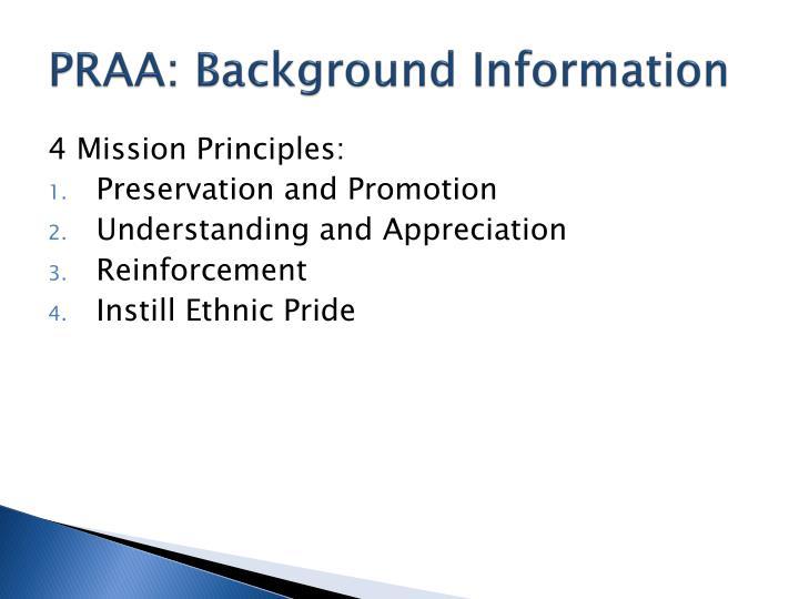 Praa background information1