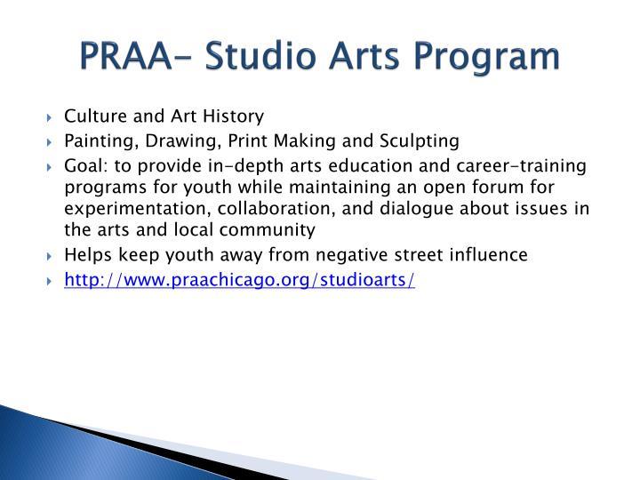 PRAA- Studio Arts Program
