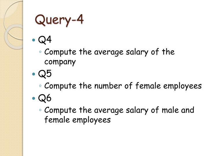 Query-4