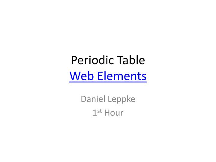 periodic table web elements n.