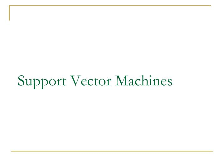 support vector machines n.