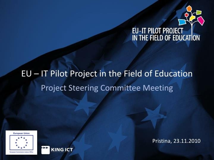 Eu it pilot project in the field of education