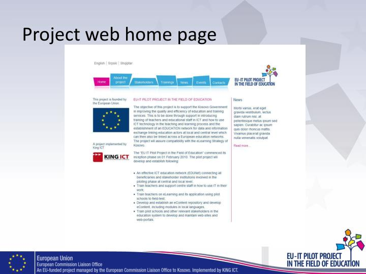 Project web home