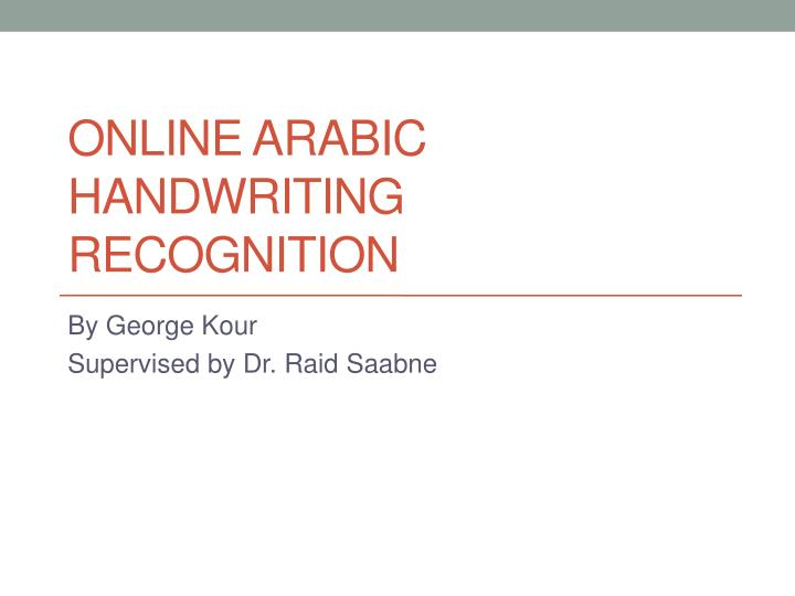 online arabic handwriting recognition n.